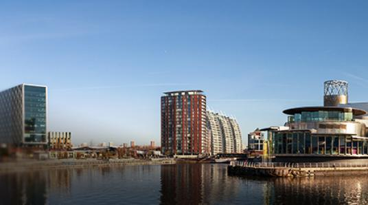 media city at salford quays