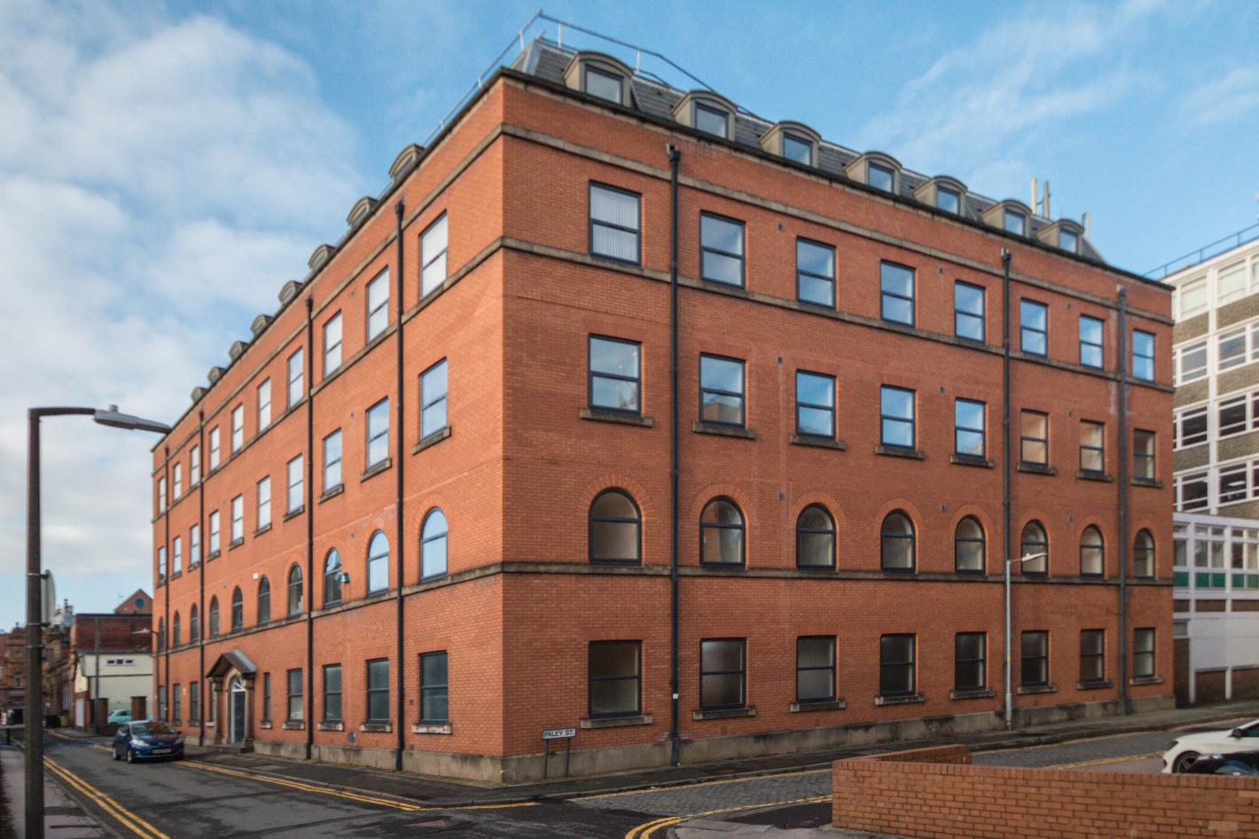 5 stories high block of flats buy to let investment