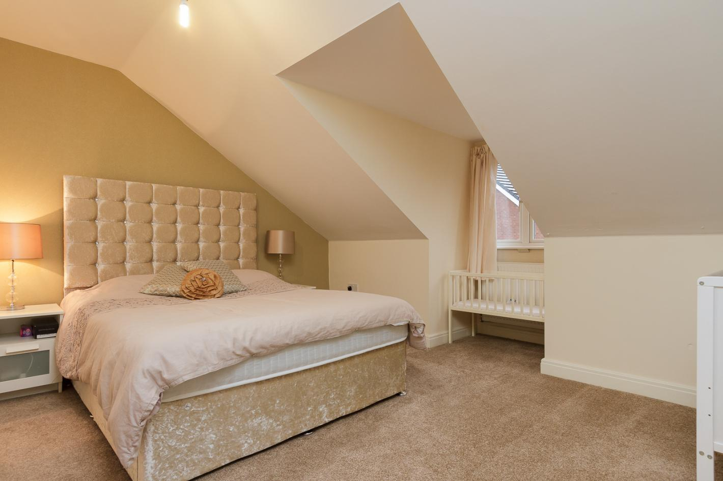converted attic, large double bedroom