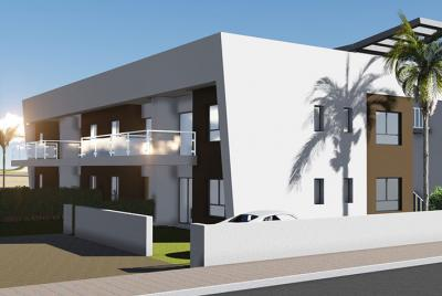 outside view of white modern house