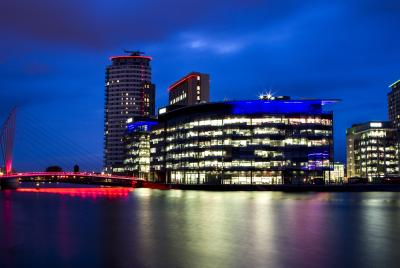 media city at night itv studios
